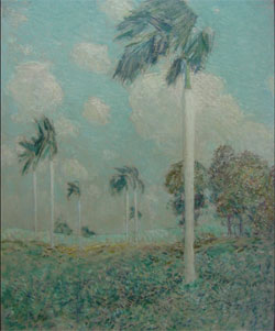 Childe Hassam, Royal Palms, Cuba, oil on canvas, 1895, 25 by 31 inches, est. $300,000-$600,000. John W. Coker Auctions image.