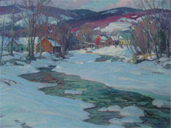 A.T. Hibbard, Late Sun, oil on canvas, 36 by 28 inches, est. $15,000-$25,000. John W. Coker Auctions image.