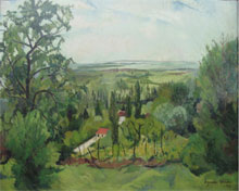 Suzanne Valadon, Paysage Ain, oil on canvas, 32 by 26 inches, $28,600 (estimate $20,000-$30,000).