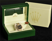 Rolex stainless steel and 18K gold gentleman's wristwatch, mechanical, Model No. 116233, with original box and papers. Estimate $5,000-$8,000. Morphy Auctions image.
