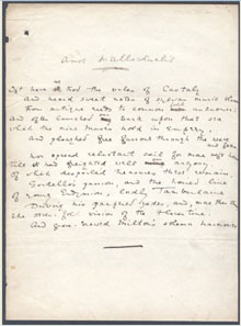 Oscar Wilde hand-written manuscript of the poem Amos Intellectualis, $17,325. Dirk Soulis Auctions image.