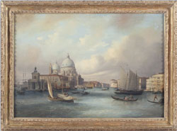 "Oil on Canvas by Carlo Grubacs (It., 1802-1878), ""View of Venice"" ($23,000)"