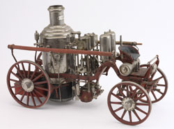 Fire pumper model, spirit fired and believed fully functional, 21 inches long, weight 32 lbs., $8,260. Noel Barrett Auctions image.