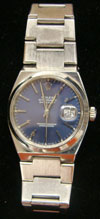 Killer Kowalski's Rolex Oyster Perpetual wristwatch. Tonya A. Cameron Auctioneers image.