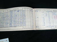 "Walter ""Killer"" Kowalski was an accomplished pilot who logged thousands of hours in his private plane, as documented in this flight log. Tonya A. Cameron Auctioneers image."