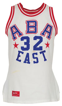"1974 Julius ""Dr. J"" Erving ABA Eastern Conference All-Stars game-used uniform. Grey Flannel Auctions image."