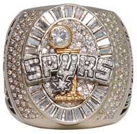 2005 Robert Horry San Antonio Spurs World Championship ring. Grey Flannel Auctions image.