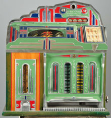 Superior 5-Cent Horse Race slot machine, $20,000-$25,000. Morphy Auctions image.