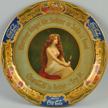 1908 Coca-Cola serving tray, $4,000-$7,000. Morphy Auctions image.