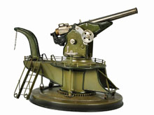 Tin Marklin coastal cannon toy, German, 9½ inches, est. $2,000-$4,000. Morphy Auctions image.