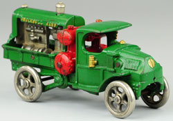 Hubley Ingersoll Rand cast-iron truck, $13,800. Bertoia Auctions image.