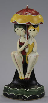 Hubley cast-iron Bathing Beauties doorstop, design by Fish, $10,350. Bertoia Auctions image.