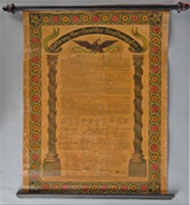 German-language copy of the U.S. Declaration of Independence, found in Pennsylvania, est. $5,000-$5,000. Morphy Auctions image.