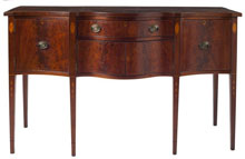 Southern Federal Inlaid Serpentine Sideboard, Sold $21,850