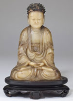 Carved Soapstone Buddha, Sold $17,825