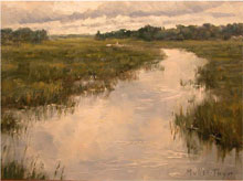 Kim Muller-Thym, 'Cloudy Creek,' oil, 9 x 12 in., estimate $1,200. Image courtesy of Salmagundi Club.