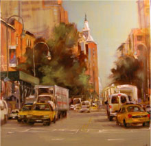 Anne Kullaf, 'Daydreams on 14th Street, oil, 20 x 20 in., estimate $1,500. Image courtesy of Salmagundi Club.