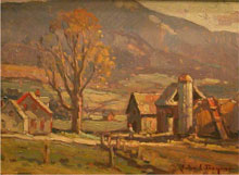 John Traynor, 'Jeffersonville, Vermont,' oil, 9 x 12 in. Image courtesy of Salmagundi Club.