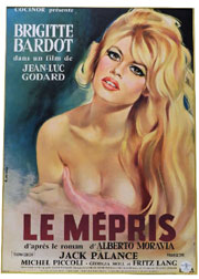 Brigitte Bardot movie poster, one of approximately 1,000 film posters – both American and international – to be auctioned. Don Presley Auction image.