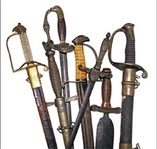 Examples from a selection of more than 40 swords. Mosby & Co. image.