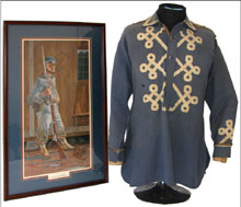 Civil War 24th Louisiana Crescent Regiment battle shirt. Mosby & Co. image.
