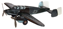 Rare 1934-35 Tippco Nazi plane with lithographed Mickey Mouse on both sides of nosecone. Mosby & Co. image.