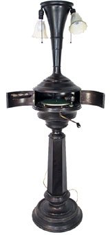 Rare 1918 floor model phonograph lamp by the Electric Phonograph Co. Mosby & Co. image.