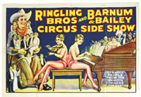 Ringling Bros. Barnum & Bailey Circus sideshow poster. Mosby & Co. image.