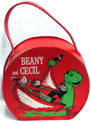 Beany and Cecil vinyl lunch kit. John W. Coker Auctions image.