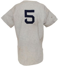 1948-49 Joe DiMaggio NY Yankees game-used flannel road jersey. Grey Flannel Auctions image.