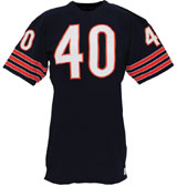 Circa-1968 Gale Sayers Chicago Bears game-used home jersey. Grey Flannel Auctions image.
