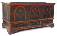 Paint Decorated Pennsylvania Dower Chest, 18th century (est. $4,000-$8,000)