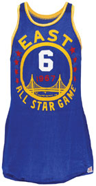 1967 Bill Russell NBA All-Star Game-used uniform, $88,826. Grey Flannel Auctions image.