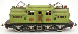 Lionel standard gauge No. 408E electric locomotive. Stephenson's image.