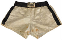Boxing trunks worn and autographed by Muhammad Ali, est. $1,000-$2,000. Morphy Auctions image.