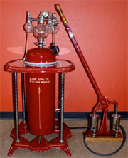 Circa-1900 nebulizer, 46in. tall, used in upscale medical or dental practices to produce mist to be inhaled by patients. Restored, retains original bottles. Featured on History Channel's 'Real Deal.' Est. $1,200-$1,800. Don Presley Auctions image.