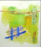 Monique Frydman (American, b. 1943-), 'Jaune Majeur III,' 1988, 86 x 76 inches. Provenance: Galerie Baudoin Lebon, Paris. Est. $12,000-$18,000. Clark's Fine Art image.