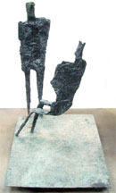 Alfio Castelli (Italian, b. 1917-), 'Colloquio,' cast bronze sculpture, 1962, 60 x 40 x 48 inches. Provenance: David E. Bright collection. Est. $20,000-$40,000. Clark's Fine Art image.
