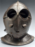 Circa-1630 Italian or German Savoyard-style helmet with two-piece skull, low comb and two-piece visor. Estimate $4,000-$8,000. Morphy Auctions image.