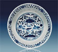 Yuan Dynasty blue and white porcelain bowl, est. $120,000-$150,000. I.M. Chait image.