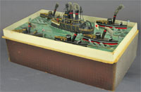 Heyde circa-1905 Sea Battle 'Panzer Flotte' set, Germany, est. $6,000-$7,000. Bertoia Auctions image.