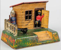 Uncle Remus cast-iron mechanical bank, est. $2,000-$3,000. Morphy Auctions image.
