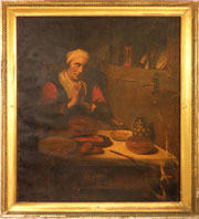 Eighteenth-century Continental painting, possibly Dutch. Mosby & Co. image.