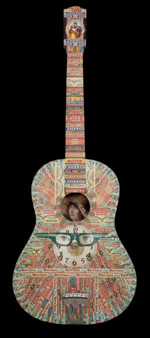Felipe Jesus Consalvos (Cuban-American, 1891 – c. 1960), 'Guitar,' mixed media. Est. $6,000-$8,000. Material Culture image.