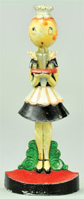 Hubley Parlour Maid figural cast-iron doorstop, designed by Anne Fish, $5,463. Bertoia Auctions image.