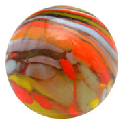 Christensen Agate cyclone guinea marble with 'submarine' effect, est. $700-$1,000. Morphy Auctions image.
