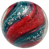 Four-paneled controlled mica onionskin marble, est. $2,000-$3,000. Morphy Auctions image.