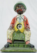 German painted papier-mache and cardboard 'Black Dandy' ball toss, circa 1895. Est. $5,000-$7,000. RSL Auction Co.
