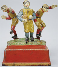 J. & E. Stevens Calamity cast-iron mechanical bank, circa 1905. Est. $35,000-$55,000. RSL Auction Co.