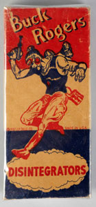 Buck Rogers firecrackers, 1937. Est. $300-$600. Morphy Auctions image.